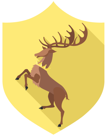 Bannière baratheon game of thrones